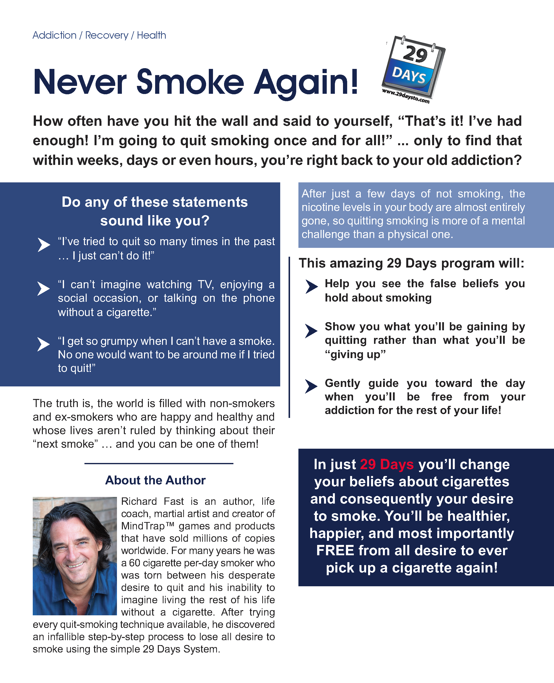 Day of struggle against smoking - an opportunity to live without cigarettes